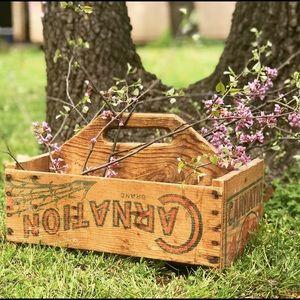 Primitive Wooden Box Carnation Depression Era